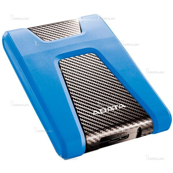 Внешний жёсткий диск ADATA 1TB DashDrive Durable HD650 2,5'' HDD USB 3.1 синий (AHD650-1TU31-CBL)