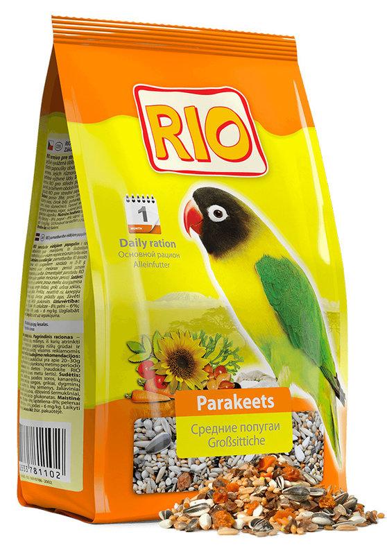 Корм для средних попугаев Rio основной рацион 1000г
