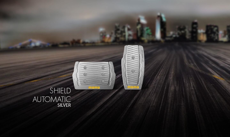 Momo Накладки на педали момо shield-automatic-silver