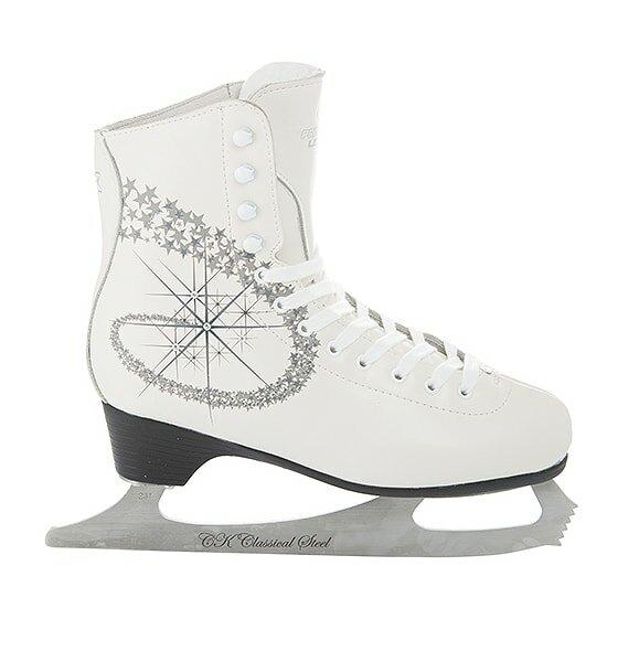 Фигурные коньки PRINCESS LUX leather 100% (Белый (31))