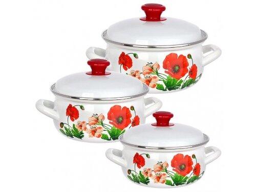 Набор посуды для готовки KMZ Настроение-1 белый