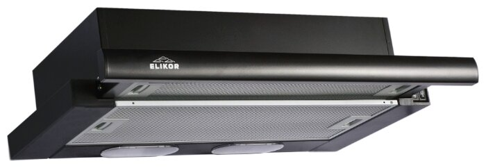 Встраиваемая вытяжка ELIKOR Интегра 60П-400-В2Л, черный / черный