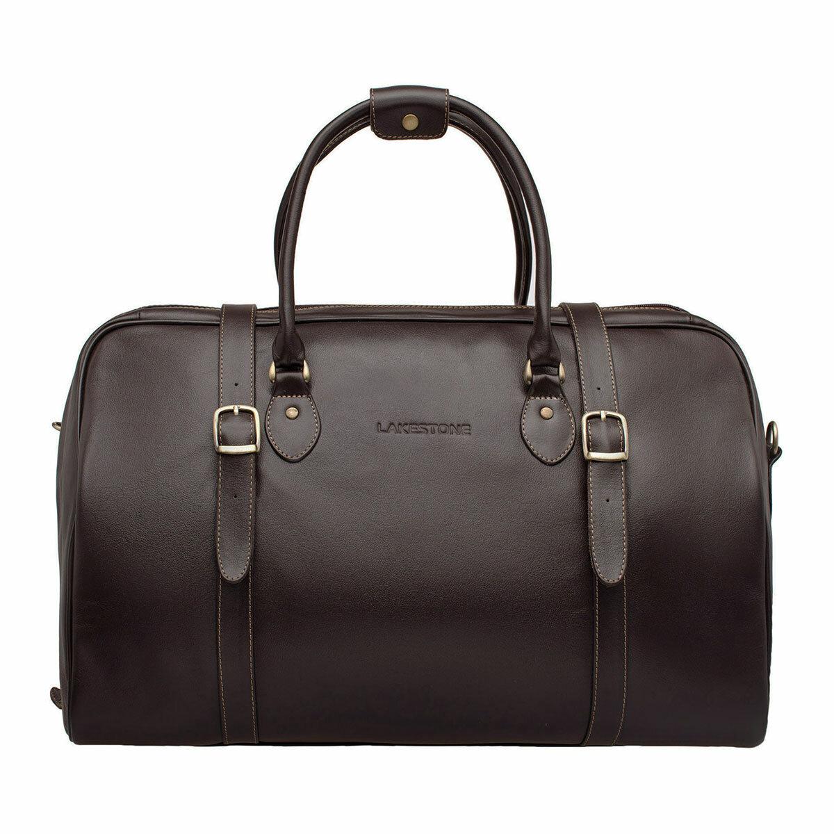 Дорожная сумка Sandford Brown мужская кожаная коричневая
