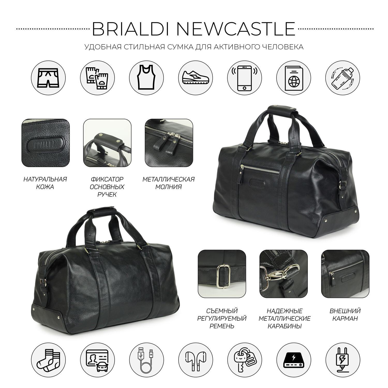 36d04b27f103 Дорожно-спортивная сумка BRIALDI Newcastle (Ньюкасл) relief black