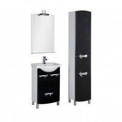 Комплект мебели Aquanet Асти 55 черный (2 дверцы 1 ящик)