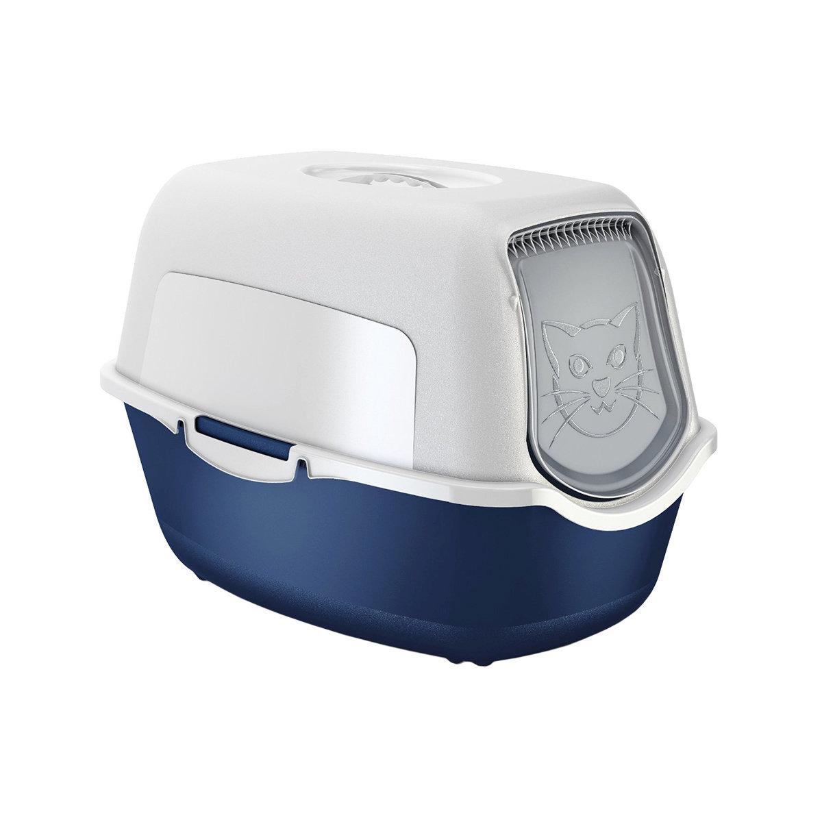 Туалет-домик для кошек ROTHO HYGIENE пластик 55,2х39х38,7см синий