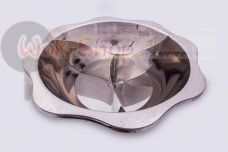 Большая кастрюля (3 секции) для китайского самовара Хого (Hot Pot) 43 см