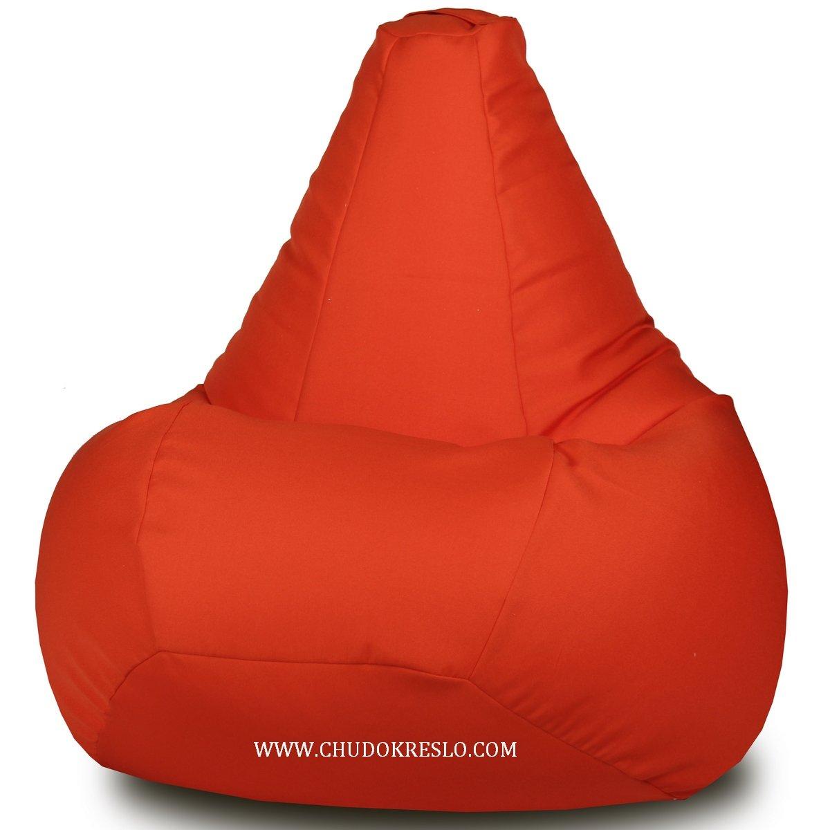 Кресло Мешок Жаккард оранж L - XL размер L