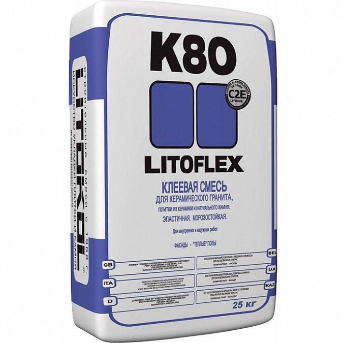 Litokol Litoflex K80. Клеевая смесь 25 кг.
