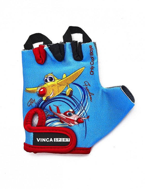 Велоперчатки детские Vinca sport VG 935 child plane red