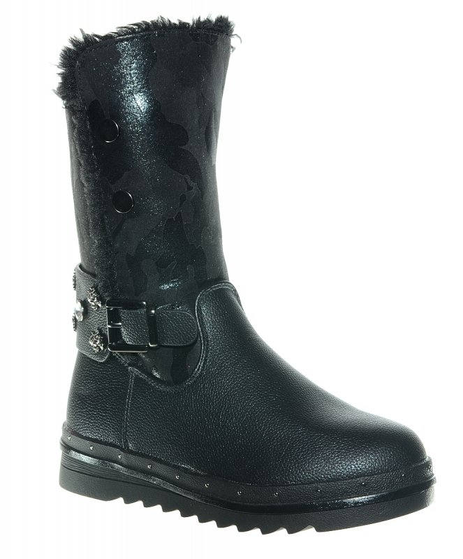 Сапоги Тотошка 8611B-CBlack для девочек, цвет черный, рус.размер 36
