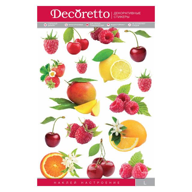 наклейка декоретто фрукты 35х50