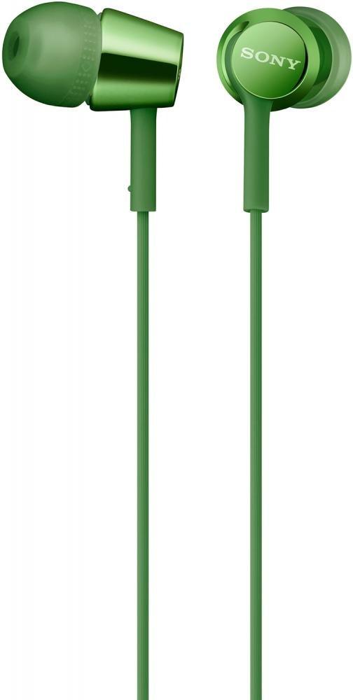 Наушники Sony MDR-EX155 (зеленый)