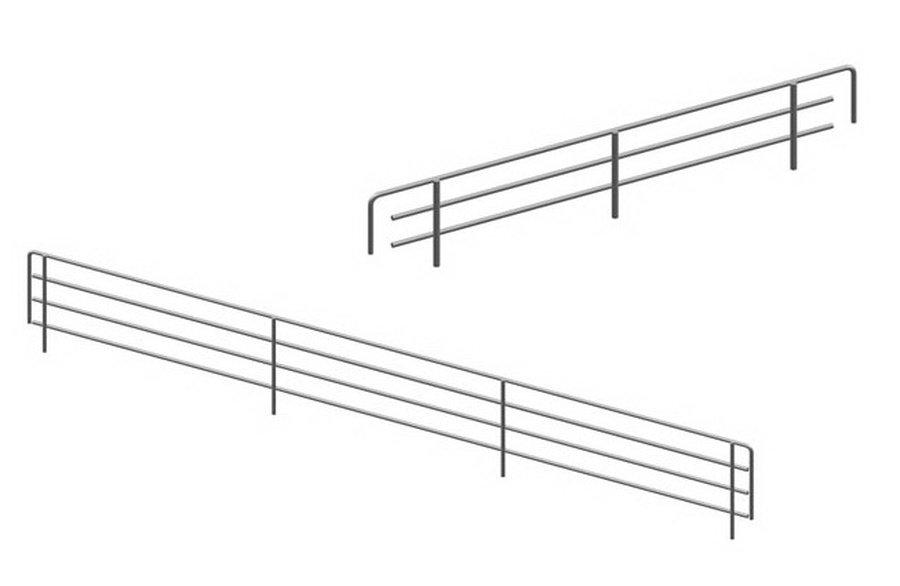 Ограничитель сетчатый бок, полка 0.40 м (20 мм)