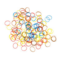 Резинки для волос Dewal цветные силикон, mix mini (100 шт.)