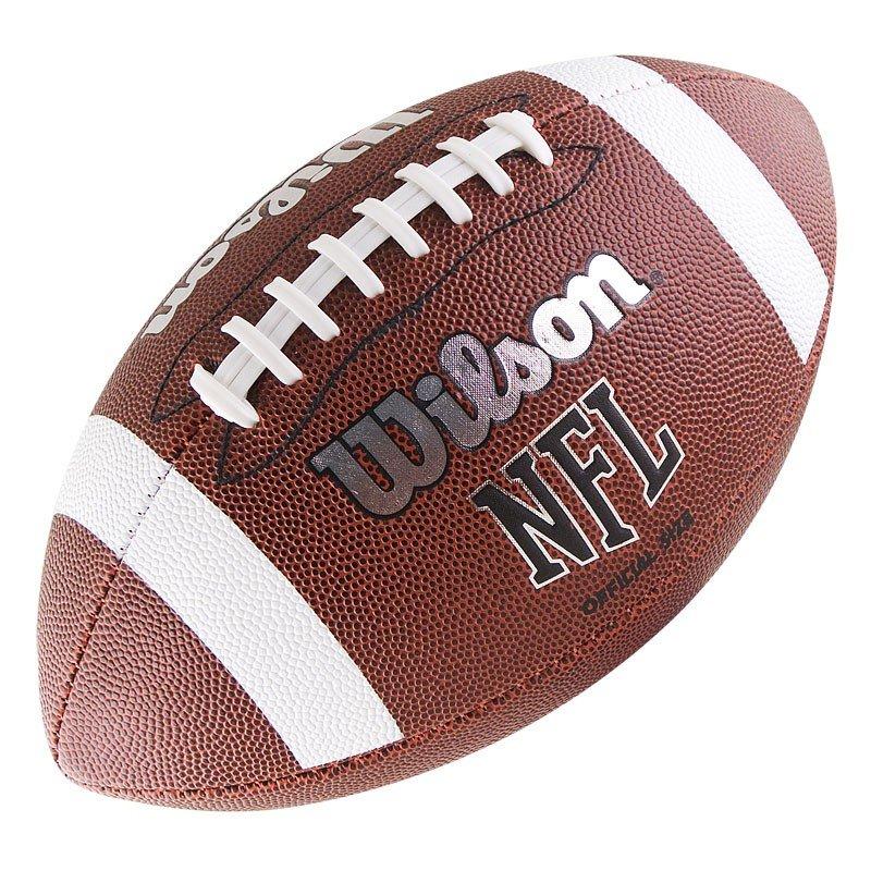 Мяч для американского футбола Wilson NFL Official Bin, -, коричневый, Любительский, Машинная сшивка