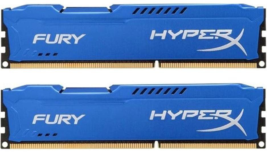 Модуль памяти Kingston DDR3 16Gb 1866MHz HyperX Fury Blue CL10 HX318C10FK2/16