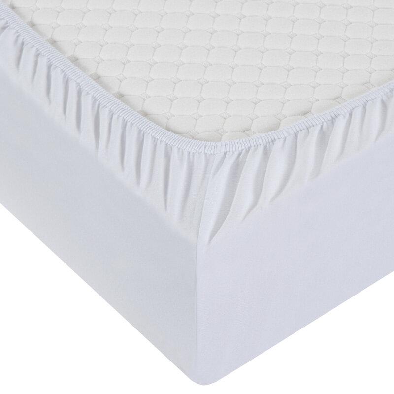 Простыня Белая на резинке Milanika (простыни, 140х200х20см)