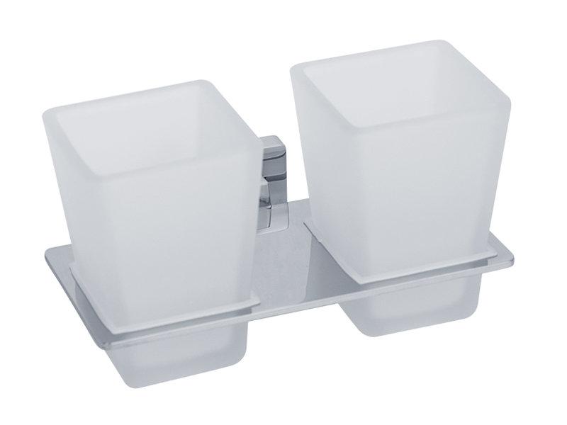 Стакан для ванны VERAGIO RAMBA VR.RMB-4942.CR Стакан двойной настенный, хром/стекло