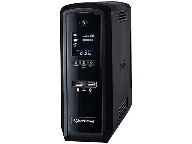 Источник бесперебойного питания 1300ВА CyberPower CP1300EPFCLCD, черный (COM, USB)