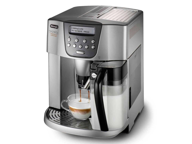 Кофемашина DeLonghi ESAM 4500 мощность 1350Вт, давление помпы 15Бар, регулировка степени помола, тип кофе- молотый/зерновой, таймер, самоочистка, капп