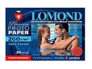 Фотобумага Lomond 1103105 10x15/260г/м2/500л./ярко-белый высокоглянцевое для струйной печати