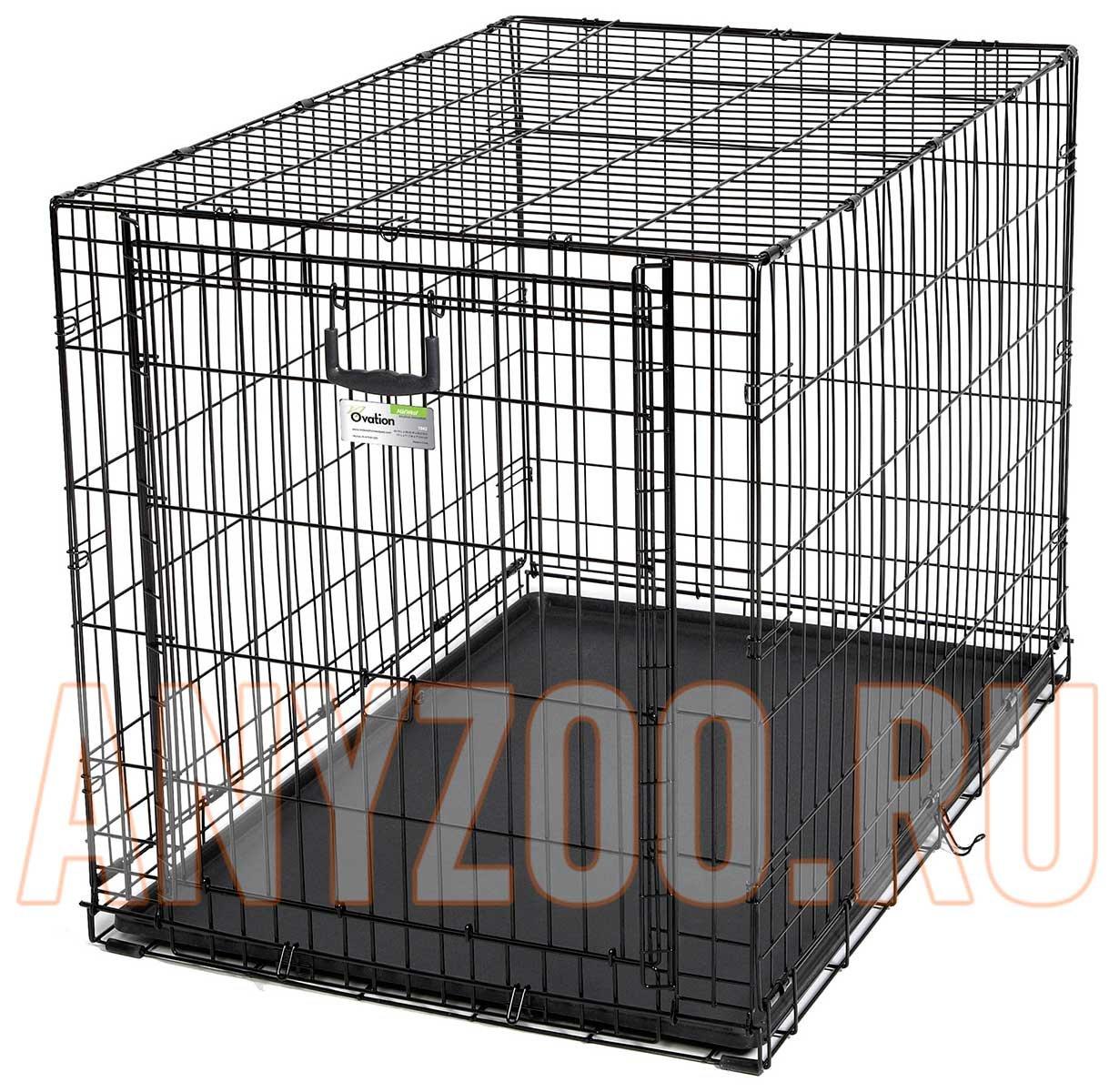 Midwest Ovation Crate клетка для собак черная, 1 дверь 111*73,6*77,4см ( Клетки, вольеры для собак )