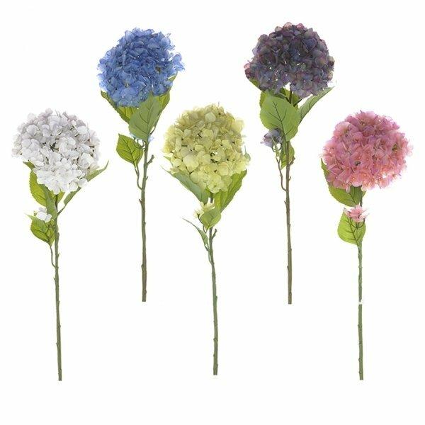"""Цветок искусственный """"Гортензия"""" (силиконовое покрытие), H105 см, 5в 265657"""