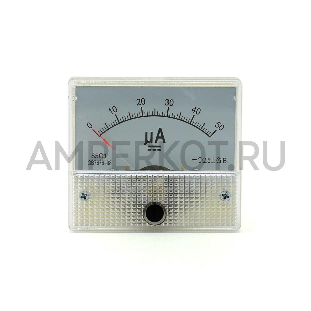 Аналоговый амперметр 85C1, 50µA