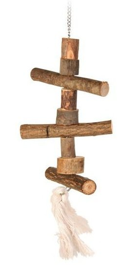 """Игрушка для попугая """"Trixie"""" на цепочке (деревянная), 40 см"""