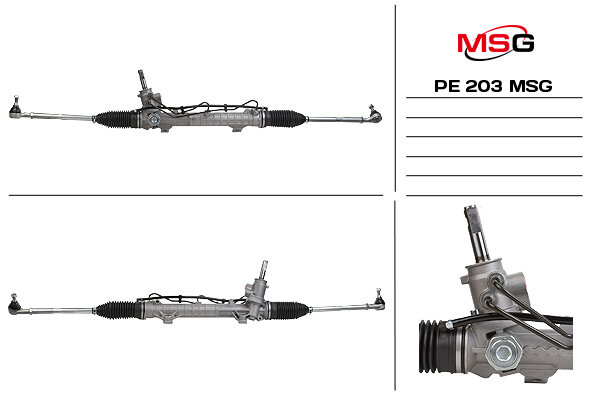 Рулевая рейка с ГУР PEUGEOT 206 98-09 TRW MSG PE203