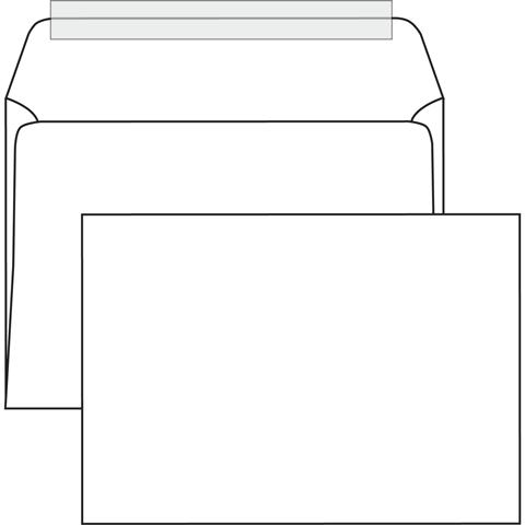 Конверт белый С4 (229*324мм), стрип-лента, клапан прямой. Конверты - в упаковке 250 шт.