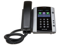 VVX 500 Polycom IP-телефон 12 линий SIP/Lync, 2 x GE PoE, цветной LCD 320x240, 2 x USB 2.0, (CAM)