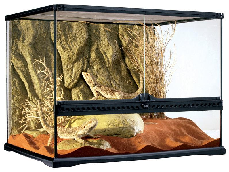 Террариум из силикатного стекла 60x45x30см