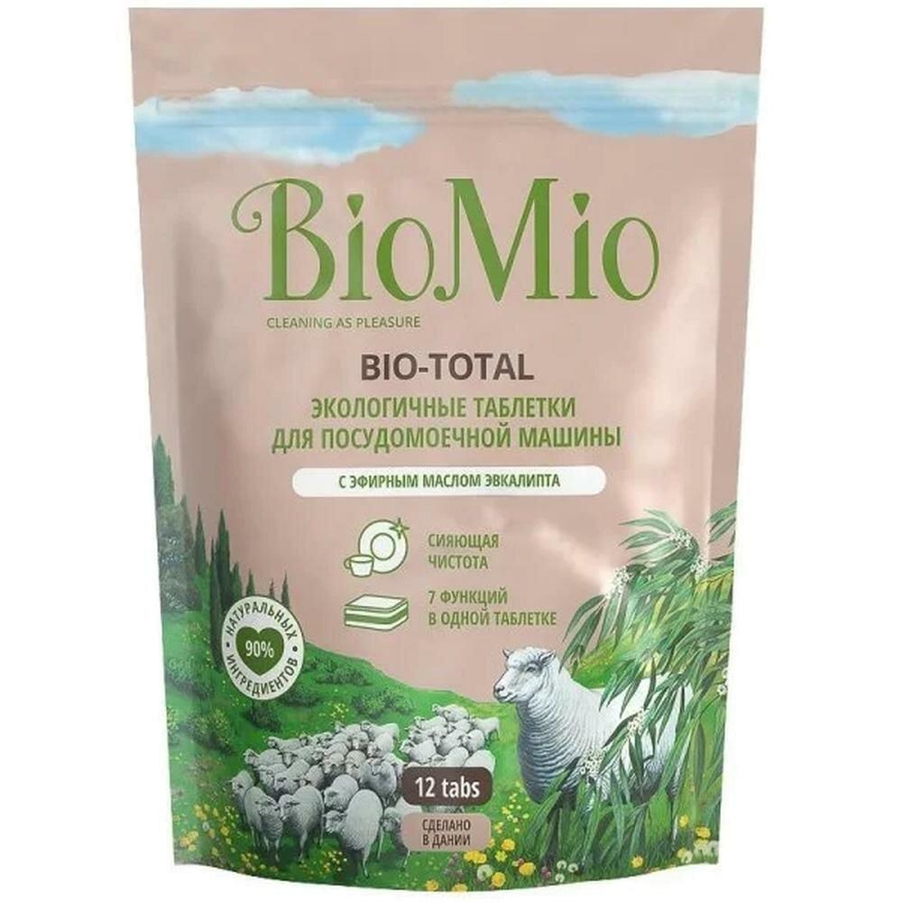 Таблетки для ПММ экологичные BioMio с эфирным маслом эвкалипта Bio-Total, 12 шт