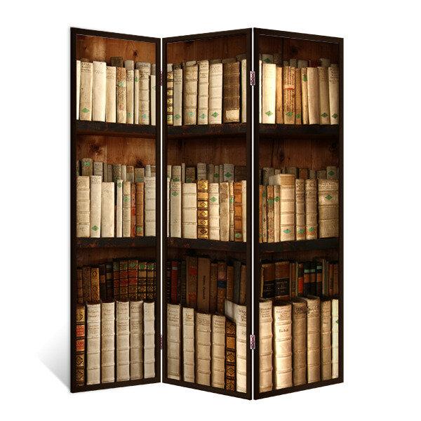 Декор Депо Ширма - перегородка Библиотека 3 створки венге