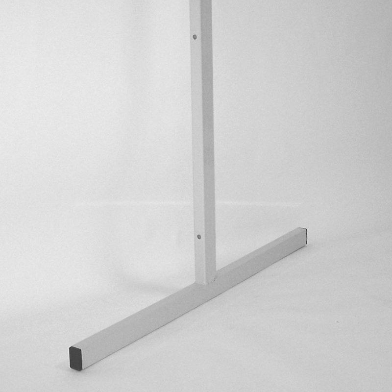 Торговая панель для оборудования магазинов: Опора для торговой панели торговых магазинов высота 2400мм, длина 850мм, цвет серый. - КСК-302