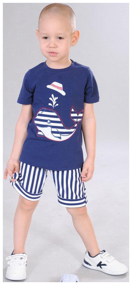 Футболка и шорты Fleur de Vie Арт. 24-0060 рост 104 синий