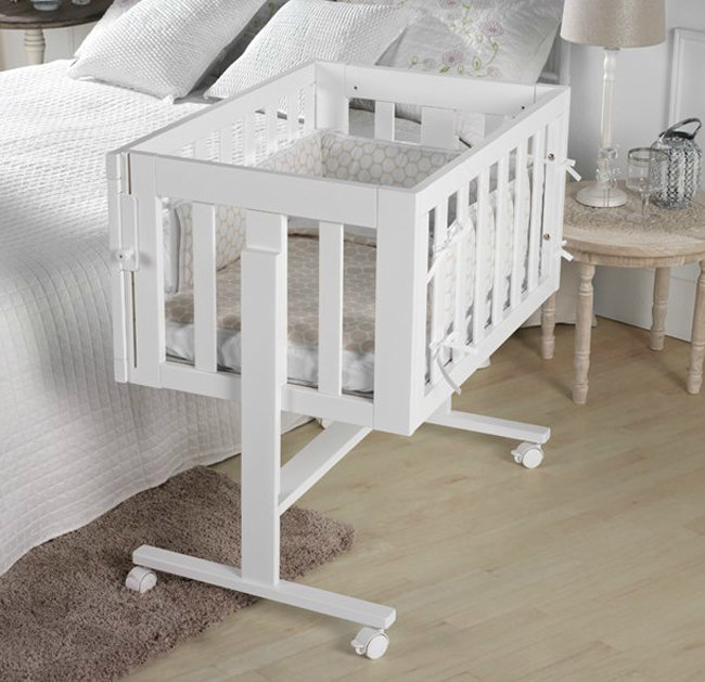 Кровать-колыбель MICUNA Cododo MO-1639, цвет: white