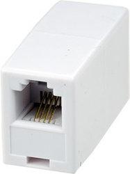 Телефонный проходник (гнездо-гнездо) 6P-4C REXANT