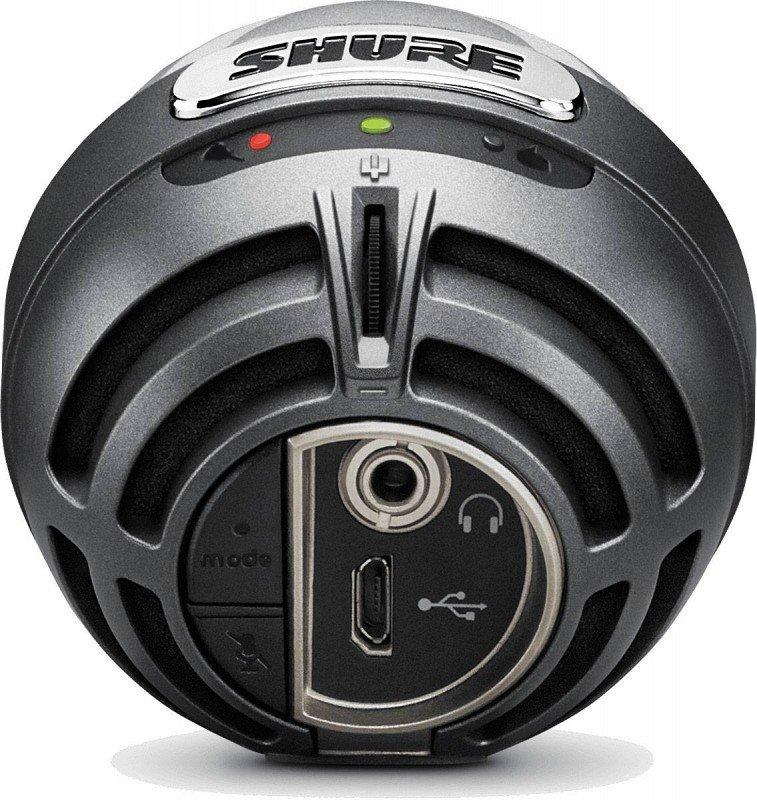 SHURE MOTIV MV5-B-LTG цифровой конденсаторный микрофон для записи на компьютер и устройства Apple, цвет черный