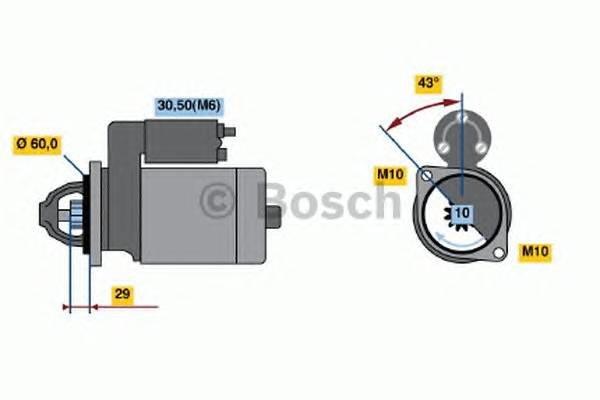 Стартер mercedes-benz c-class (w204) c300/c350/c280 07- e-class (w212) e350/e500 09- g-class g... Bosch 0001107461