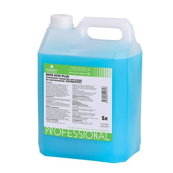 Чистящее средство PROSEPT Bath Acid PLUS для удаления ржавчины и минеральных отложений усиленного действия, концентрат, 5л