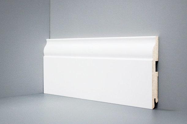 Плинтус из МДФ U103-150 DecoLine Deartio L-XL белый 16х2050, 1 метр 150х16х2050