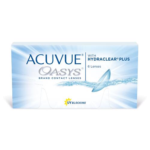 контактные линзы Acuvue Oasys with Hydraclear Plus 6 линз (акувью оазис вис гидраклир плюс)