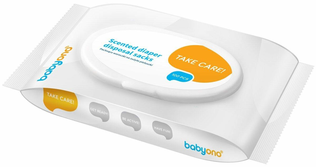BabyOno Ароматизированные пакеты для утилизации использованных подгузников 100 шт