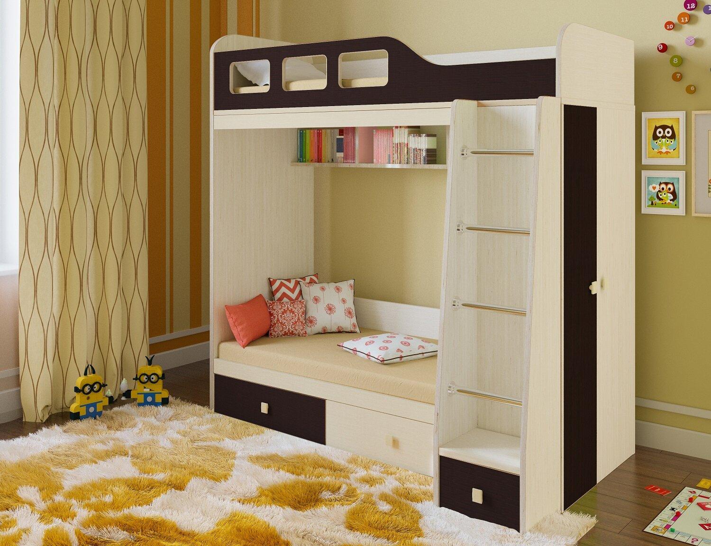 Кровать РВ Мебель Астра-3 Темное-cветлое дерево
