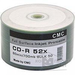 CMC Диски CD-R 80 52x Bulk 50 Full Ink Print