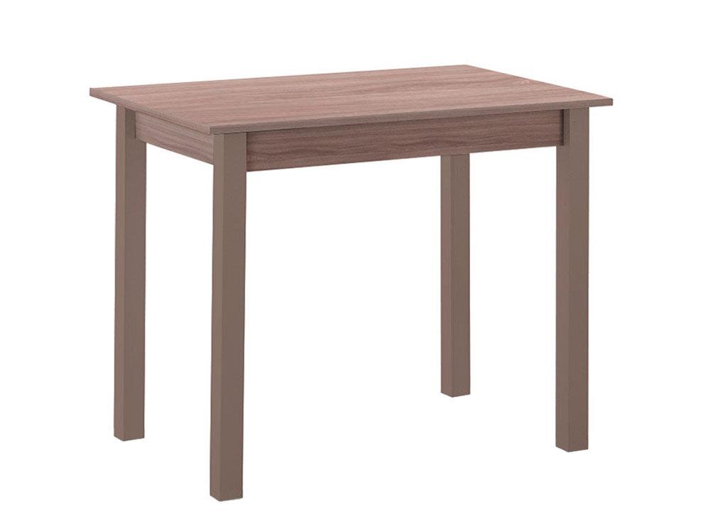 Кухонный стол Боровичи Стол обеденный прямая ножка Коричневое дерево