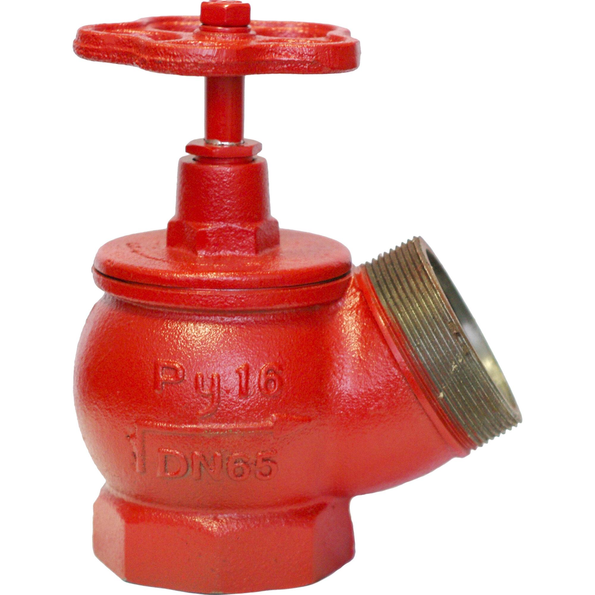Вентиль пожарный КПК 65 чугунный угловой муфта-цапка
